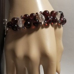 Artisan Vintage & Antique Sea Glass Bracelet 925